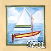 Vintage Sail by Oopsy daisy