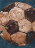 Vintage Soccerball, Blue by Oopsy daisy
