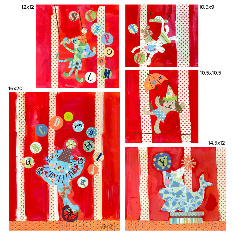 Big Top Alphabet Circus (set of canvases) by Oopsy daisy Thumbnail 1