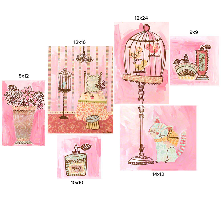 Getting Pretty Kitty (set of canvases) by Oopsy daisy Thumbnail 1