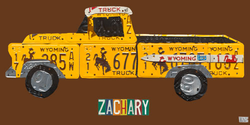 License Plate Pickup Truck by Oopsy daisy Thumbnail 1