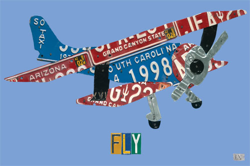 License Plate Plane by Oopsy daisy