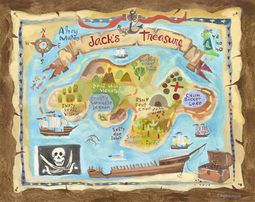 Treasure Map by Oopsy daisy Thumbnail 1