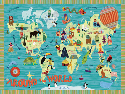 Around the World by Oopsy daisy Thumbnail