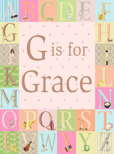 Classic Alphabet, Girl by Oopsy daisy