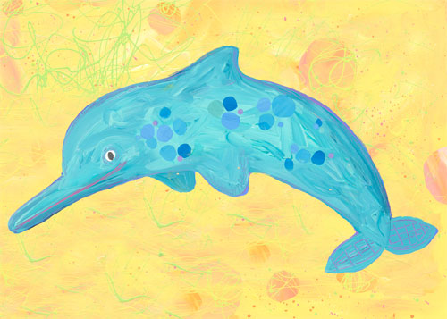 Dotted Dolphin by Oopsy daisy