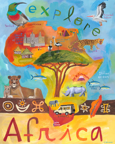 Explore Africa by Oopsy daisy