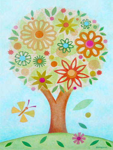 Flower Tree by Oopsy daisy