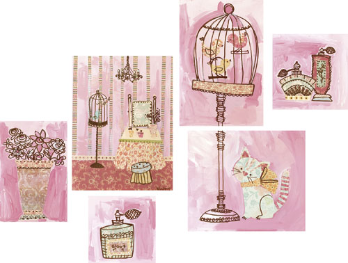 Getting Pretty Kitty (set of canvases) by Oopsy daisy Thumbnail