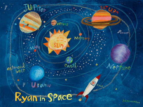 Personalized In Space by Oopsy daisy
