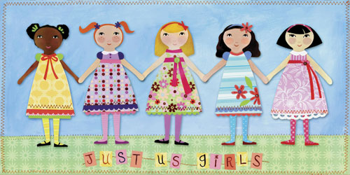 Just Us Girls by Oopsy daisy