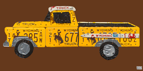 License Plate Pickup Truck by Oopsy daisy Thumbnail