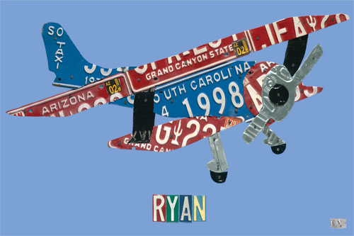 License Plate Plane by Oopsy daisy, Personalized