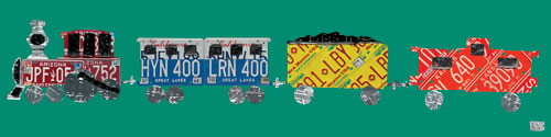 License Plate Train by Oopsy daisy