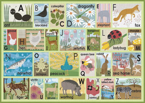 Modern Alphabet on Green by Oopsy daisy Thumbnail