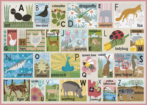 Modern Alphabet on Pink by Oopsy daisy Thumbnail