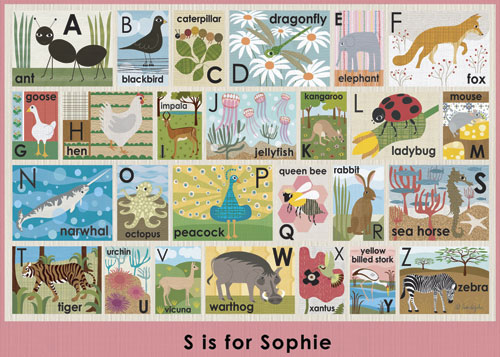 Modern Alphabet on Pink by Oopsy daisy, Personalized