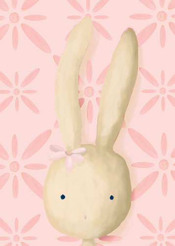 Rae the Bunny, Powder Pink by Oopsy daisy