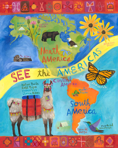 See the Americas by Oopsy daisy