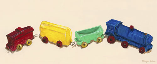 Toy Train by Oopsy daisy
