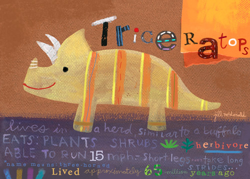 Triceratops by Oopsy daisy