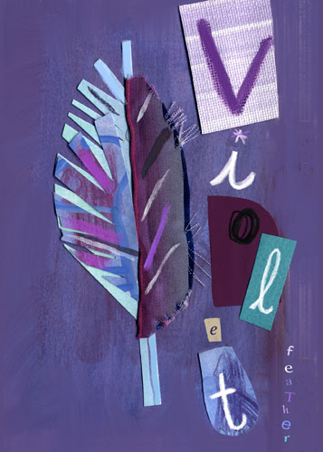 Violet Feather by Oopsy daisy