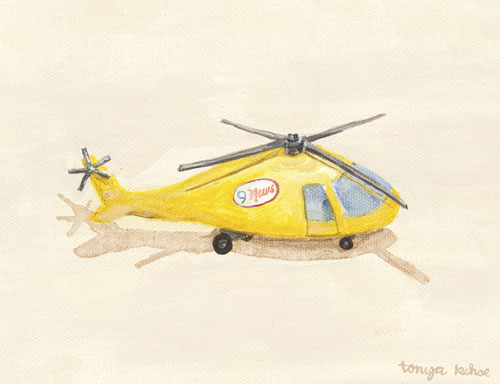 Yellow News Helicopter by Oopsy daisy
