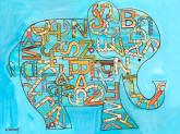 Blue Alphabet Elephant by Oopsy daisy