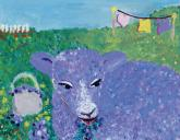 Lavender Lamb by Oopsy daisy