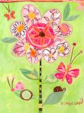 Lime Flower Collage by Oopsy daisy