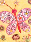 Pink Butterfly Collage by Oopsy daisy