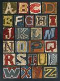 Vintage Alphabet by Oopsy daisy