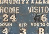 Vintage Football Scoreboard by Oopsy daisy