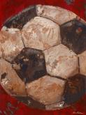 Vintage Soccerball by Oopsy daisy