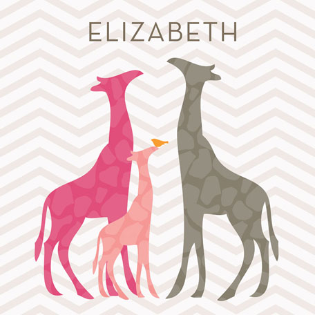 Modern Giraffes - Pink by Oopsy daisy Thumbnail 1