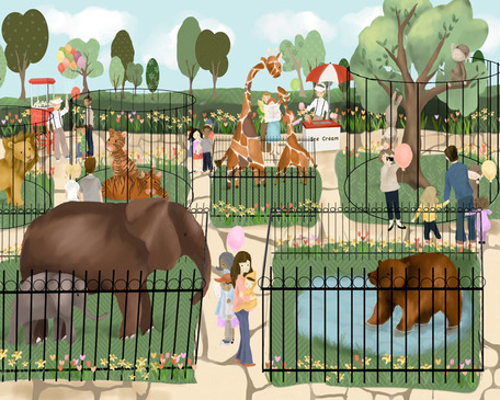 A Day At The Zoo  by Oopsy daisy