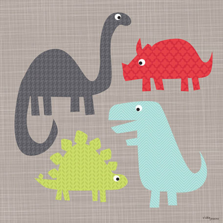 A Gathering of Dinosaurs by Oopsy daisy