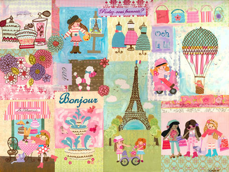 A Piece of Paris by Oopsy daisy