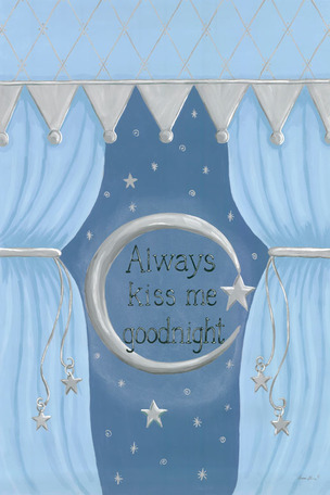 Always Kiss Me Goodnight - Blue by Oopsy daisy