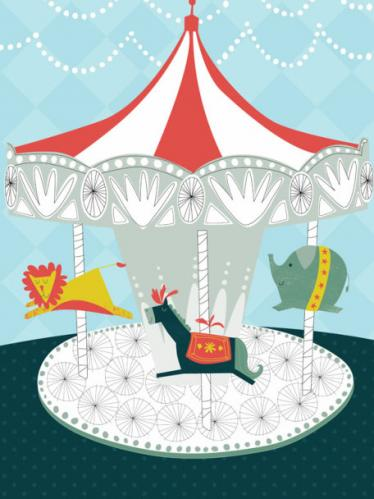 Carnival Carousel by Oopsy daisy
