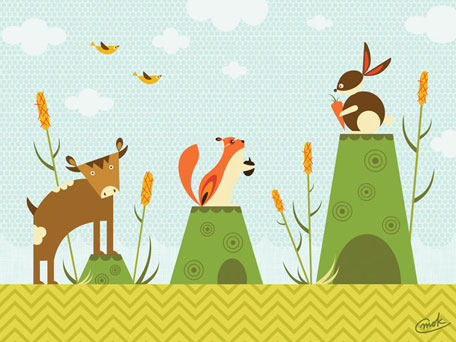 Cattails and Critters by Oopsy daisy