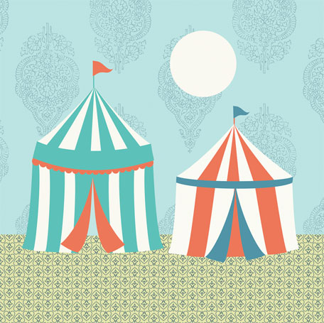Circus Tents by Oopsy daisy