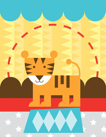 Circus Tricks - Tiger by Oopsy daisy