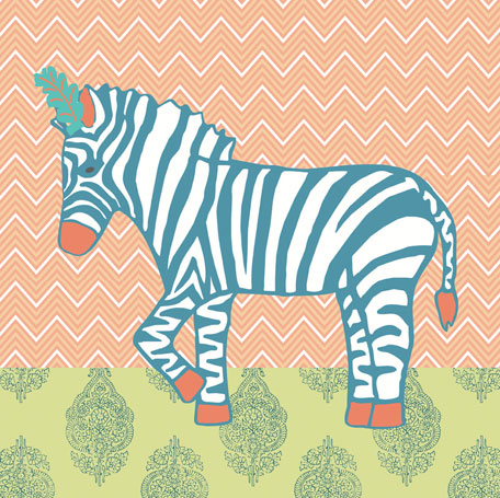 Circus Zebra by Oopsy daisy