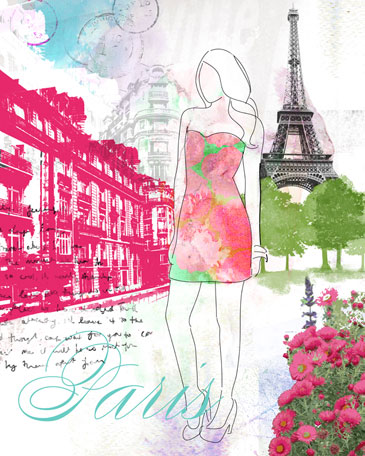City Girl - Paris by Oopsy daisy