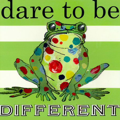 Dare to be Different- Frog by Oopsy daisy