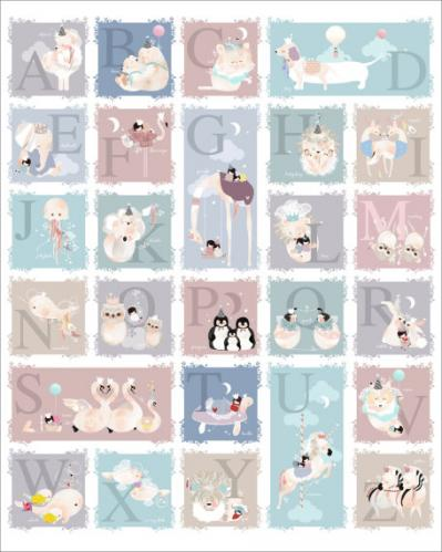 Delicate Creatures Alphabet by Oopsy daisy