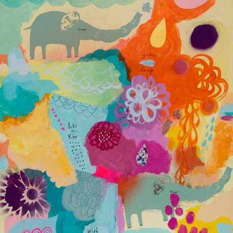 Elephants on Parade by Oopsy daisy