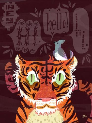 Hello Tiger by Oopsy daisy