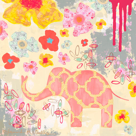 Herbaceous Elephant by Oopsy daisy